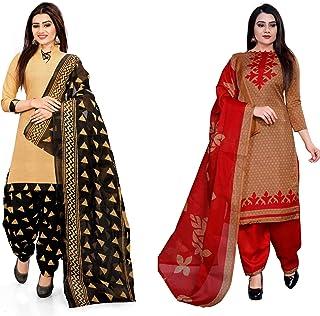 DESIMISS KART Women's Cotton Unstitched Salwar Suit (10920_10980, Free Size)