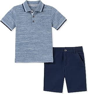 Calvin Klein Baby Boys' 2 Pieces Polo Shorts Set