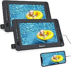 "NAVISKAUTO 10.5"" Portable DVD Player Dual Screen with HDMI Input, Car Headrest Mounting Bracket, Built-in Rechargeable Bat..."