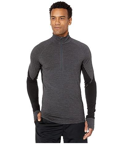 Icebreaker BodyfitZONEtm 260 Zone Long Sleeve Half Zip (Jet Heather/Black) Men