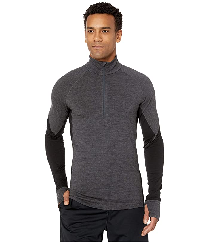 Icebreaker  BodyfitZONEtm 260 Zone Long Sleeve Half Zip (Jet Heather/Black) Mens Clothing