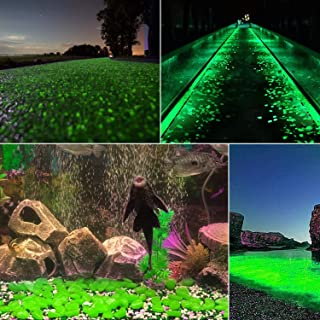 chic style 500 Pcs Glow in The Dark Garden Pebbles, Gardening Luminous Glow Stones Outdoor Decor Glowing Water Fish Tank G...