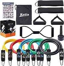 Ketia 11 Pcs Tube Resistance Bands Set,Door Anchor Attachment, Foam Handle, Ankle Straps, Resistance Exercise Bands,Exercise Tube Bands for Body Shaping, Training- 100% Life Time Guarantee