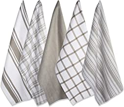 "DII Kitchen Dish Towels (Brown, 18x28""), Ultra Absorbent & Fast Drying, Professional Grade Cotton Tea Towels for Everyday ..."