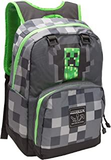 Zaino Minecraft Creepy Creeper Grey, Equipaje Unisex Niños, Multicolor (Multicolore), 21x15x43 centimeters (W x H x L)