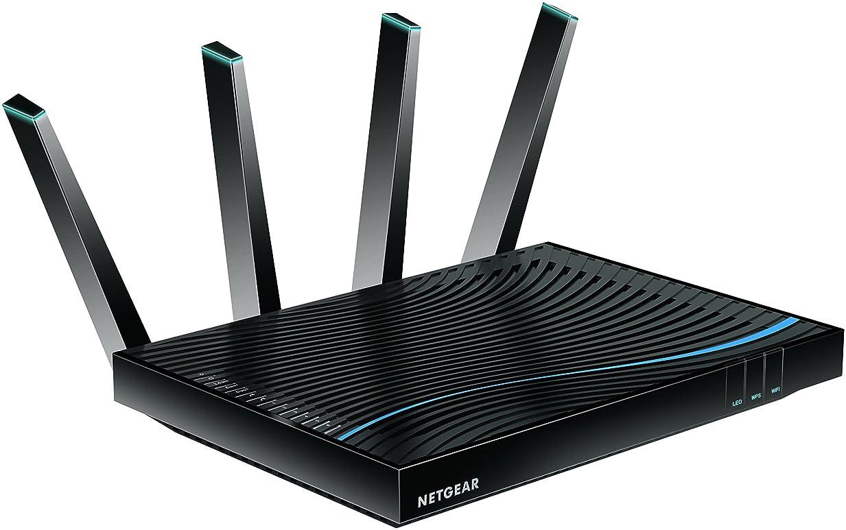 目的ご近所限界NETGEAR WiFi 無線LAN 親機 ルーター 接続台数64台 トライバンド Nighthawk R8500-100JPS