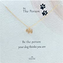 Soulink Lovely Cute Dog Necklace Gift for Women