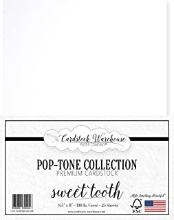 Sweet Tooth White Cardstock Paper - 8.5 x 11 inch 100 lb. Heavyweight Cover - 25 Sheets from Cardstock Warehouse