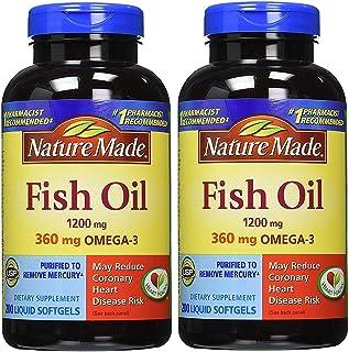 Nature Made Fish Oil 1200 mg 200 Liquid Softgels - 2 Pack