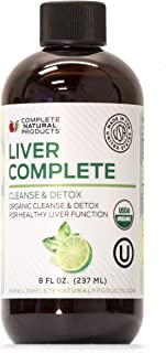 Liver Complete 8oz - Organic Liquid Liver Cleanse Detox Supplement for High Enzymes, Fatty Liver, The Gallbladder