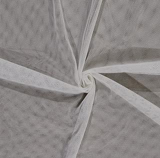 Ivory English Netting Polyester Mesh Net Fabric by The Yard (IVORY-2237V-5N)