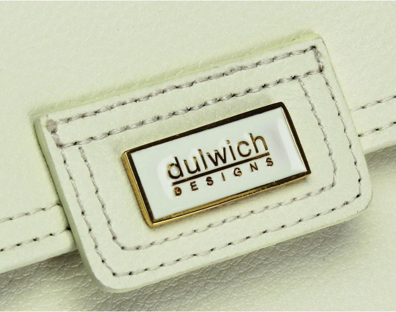 Dulwich Designs Pretty Cream Leather Ladies Jewellery Roll