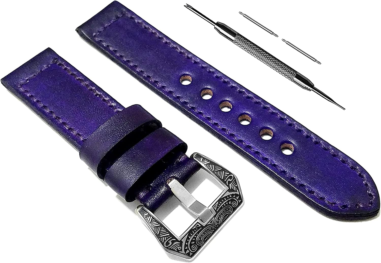 favorite NICKSTON Purple Brushed Genuine Leather Hu Lowest price challenge with Compatible Strap