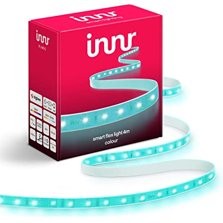 Innr Flex Light Color, 4m Smart LED Streifen, kompatibel mit Philips Hue* (Bridge erforderlich) & Amazon Echo Plus, dimmbar, 4 meter RGBW, FL 140C