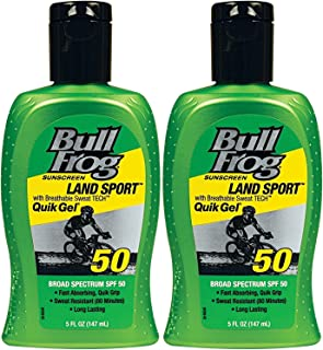 BullFrog Land Sport Quik Gel Sunscreen SPF 50 5 OZ - Buy Packs and Save (Pack of 2)