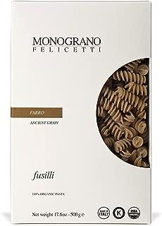 Organic Farro Fusilli Pasta Selezioni Monograno By Felicetti (2 Pack)