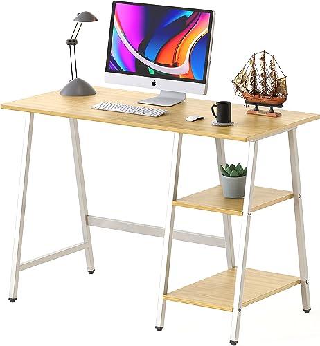 high quality SHW Trestle Home Office new arrival Computer Desk, popular Oak online sale