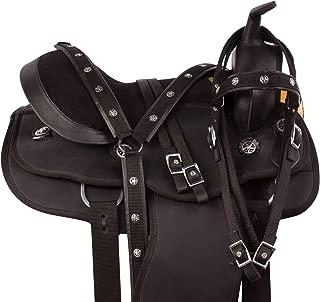 "AceRugs Black Arabian Western Trail Synthetic Round Skirt Horse Saddle TACK 14"" 15"" 18"""