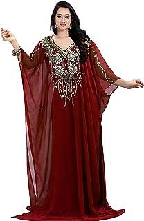 KoC Women's wear Dubai Kaftan Farasha Caftan Long Maxi Dress Abaya Jalabiya