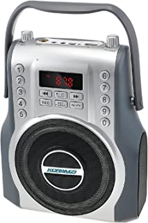 KORAMZI Karaoke Portable Rechargeable Boombox Bluetooth,USB,SD, FM Radio, AUX in, 3.5 mm Audio Jack, Bluetooth Call Answer...