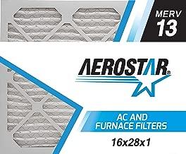 Aerostar Air Filters 16x28x1 MERV 13,Healthier Air for Your Home, 16