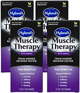 Hylands Muscle Therapy Gel with Arnica, 3 oz, Pack of 4