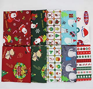 iNee Christmas Fat Quarters Fabric Bundles, 100% Cotton Quilting Sewing Fabric, 18 x22 inches