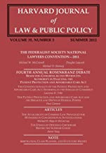 Harvard Journal of Law & Public Policy, Volume 35, Issue 3 (Pages 821 - 1014)