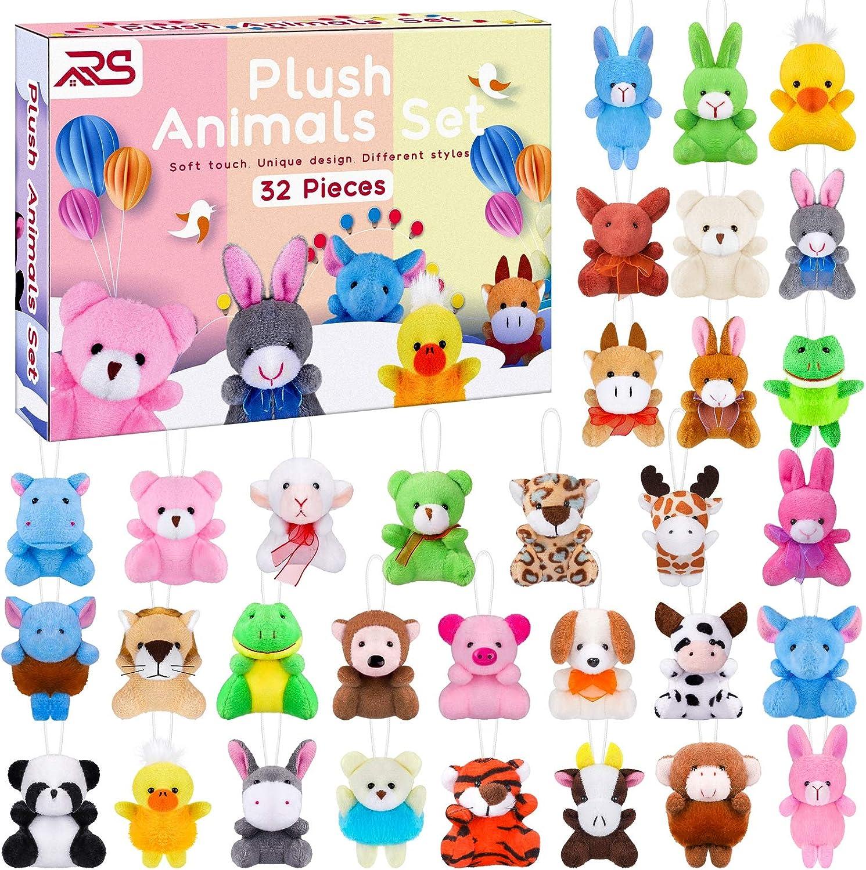 NEW before selling ☆ Ruisita 32 Pack Mini Plush Set Animals Toys Jungle Animal All items free shipping