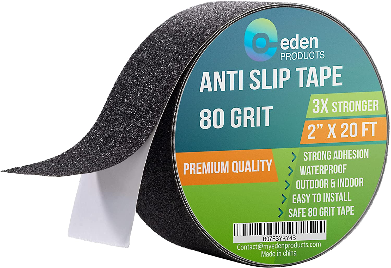 EdenProducts Industrial 2 Inch x 20 Foot Grip Tape Strips, Anti