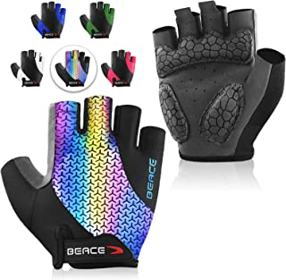 Cycling Gloves Bike Gloves Biking Gloves Half Finger MTB Road Bicycle Gloves for Men and Women-Breathable Anti-Slip Shock-Absorbing Pad Motorcycle Mountain Bike Gloves