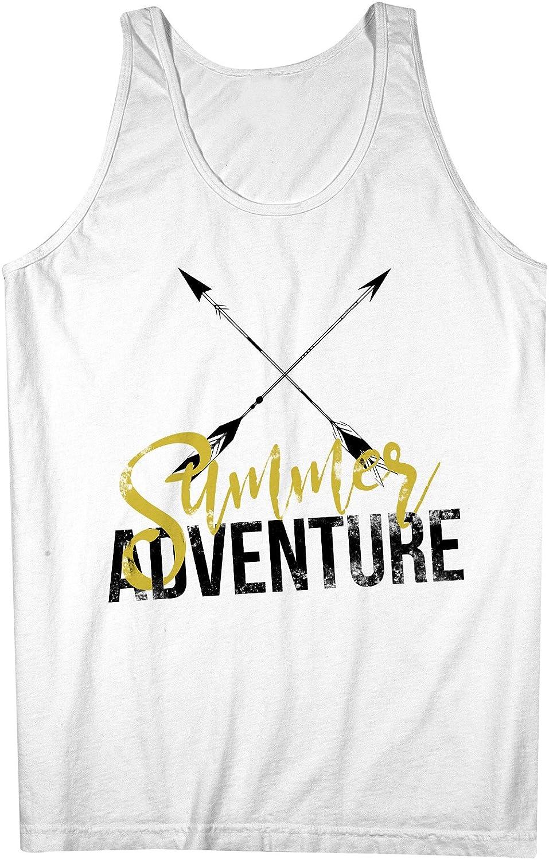 Summer Adventure Arrows Artwork 男性用 Tank Top Sleeveless Shirt