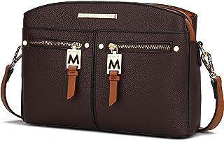 MKF Crossbody Tasche für Damen - PU Leder Pocketbook Handtasche - Designer Side Messenger Geldbörse Schulter Crossover