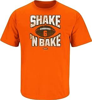 Cleveland Football Fans. Shake N Bake Orange T-Shirt (Sm-5x)