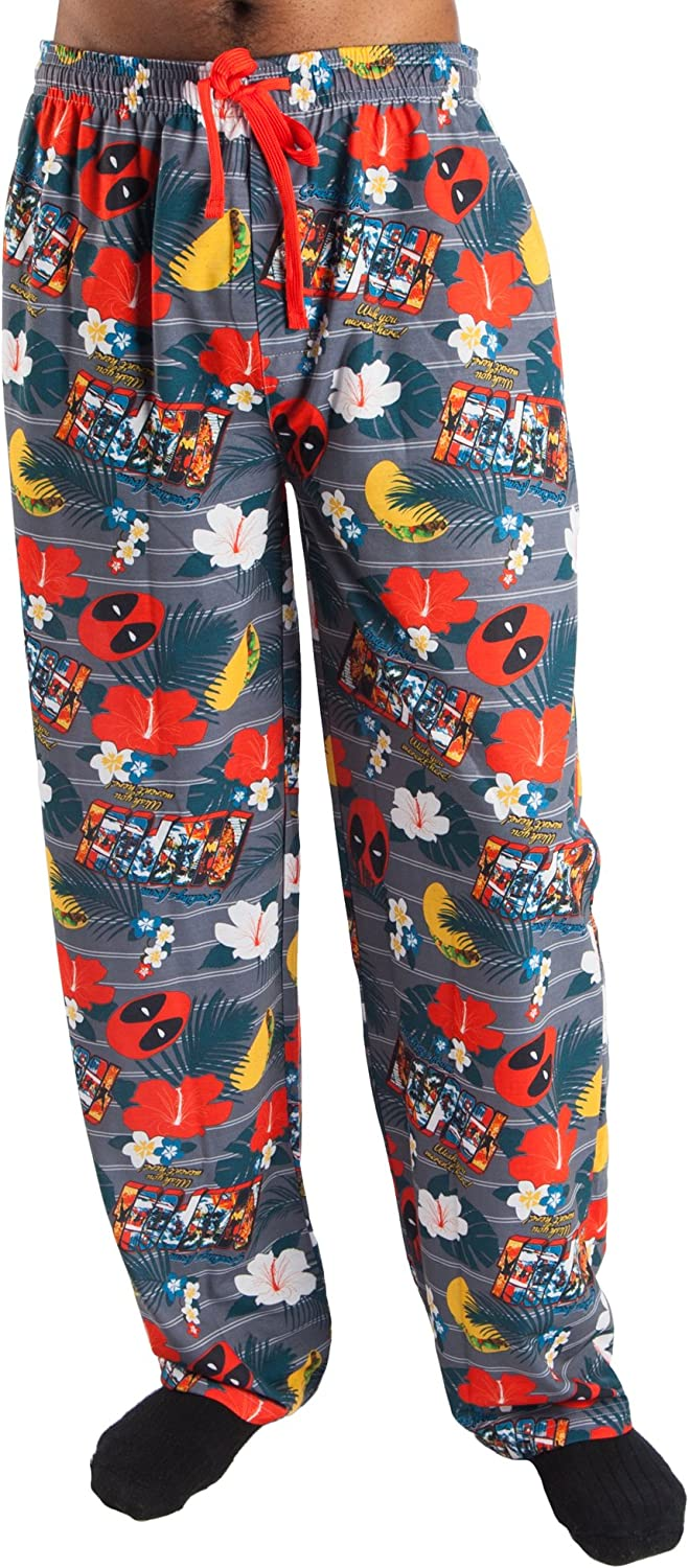 Deadpool Vacation All Over Print Men's Pajamas (Small 28/30)