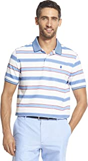 IZOD Men's Classic Short Sleeve Auto Stripe Polo