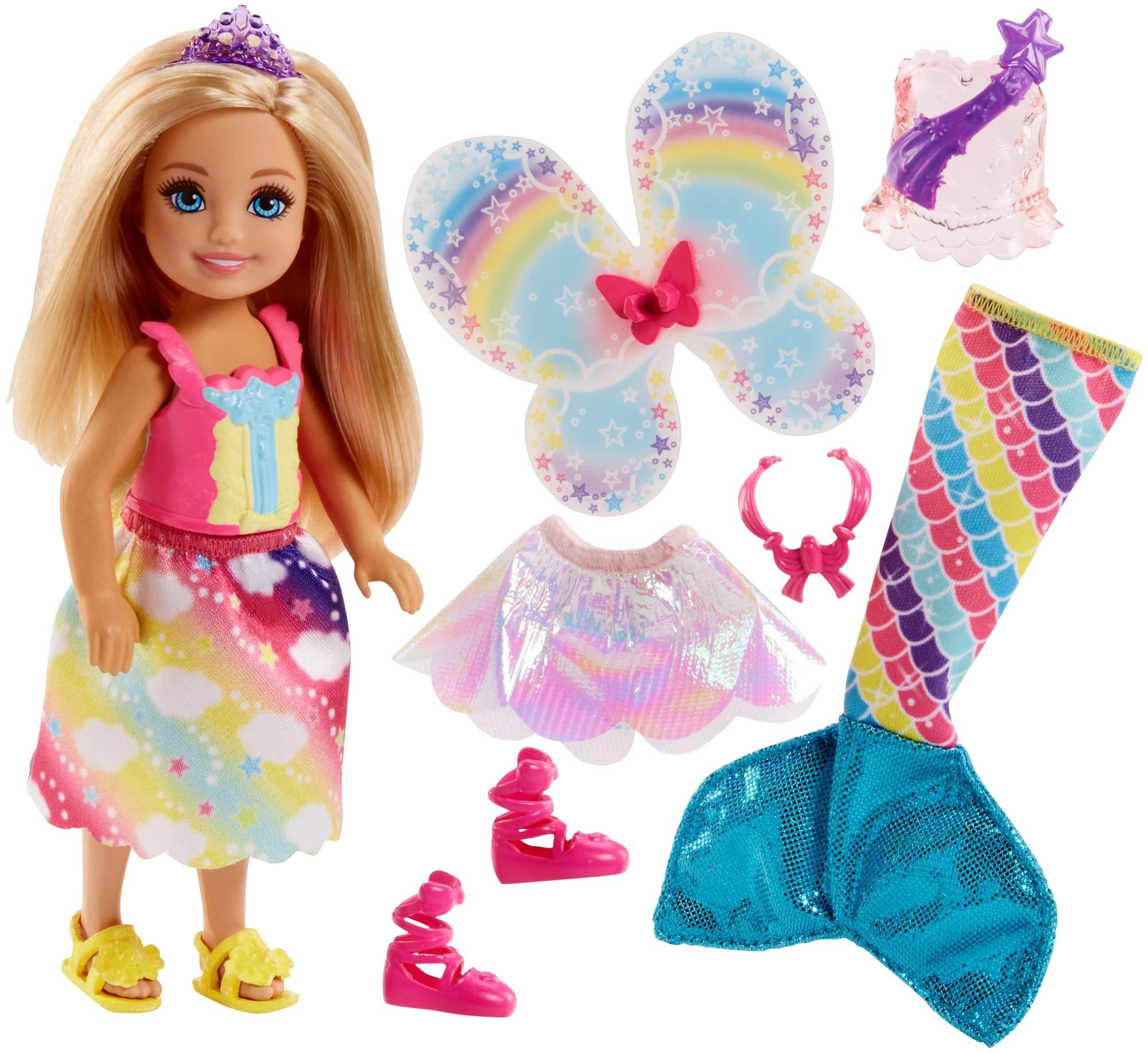 Amazon.es: Barbie Dreamtopia, muñeca rubia Chelsea sirena, juguete ...