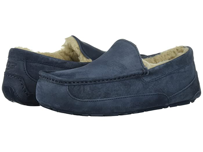 UGG  Ascot - WIDE (New Navy/New Navy Suede) Mens Slippers