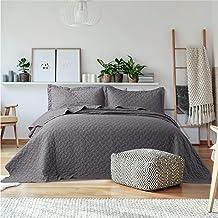 Bedsure Quilt Sets Queen Grey - Lightweight Queen Quilt Beding Set, Summer Bedspreads Full Coverlet with 2 Pillow Shams