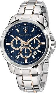 Men's SUCCESSO Quartz Stainless-Steel Strap, Rose Gold, 20 Casual Watch (Model: R8873621008)