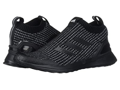adidas Kids RapidaRun LL Knit (Big Kid) (Black/White) Kids Shoes