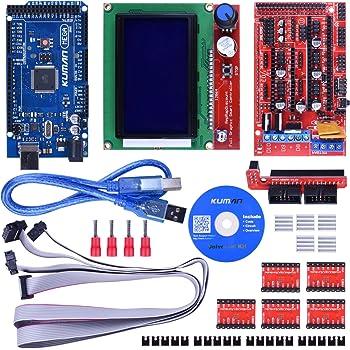 kuman 3D Controlador de Impresora Kit para Starter Kit de Mega ...