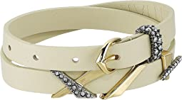 Alexis Bittar - Leather Choker/Wrap Bracelet with Crosshatch Pave Charms