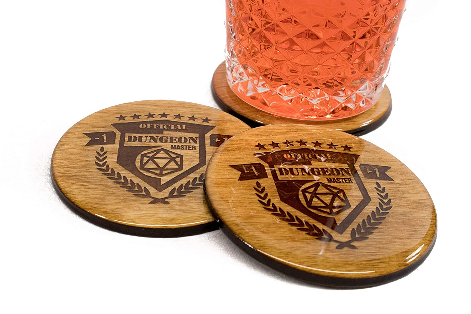 Official Dungeon Milwaukee Mall Master Coasters - Round Wood and 3.5