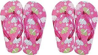 Sunbaby Girls Butterfly Beach Slipper Buy1 Get1 Size 24,PK, Set of 2