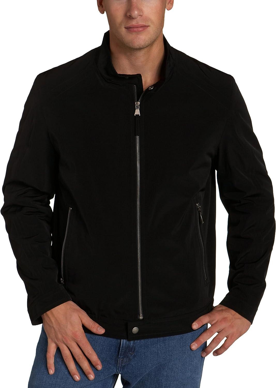 Perry Ellis Portfolio Men's Poly Tech Moto Jacket