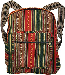Tribal Red Woven Backpack or Daypack