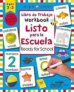 Wipe Clean: Bilingual Workbook Ready for School (Wipe Clean Activity Books) (Spanish