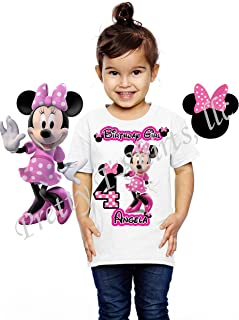 Minnie Mouse Birthday Shirt, Add Any Name and Age, Family Matching Shirts, Minnie Birthday Shirts, Visit Our Shop