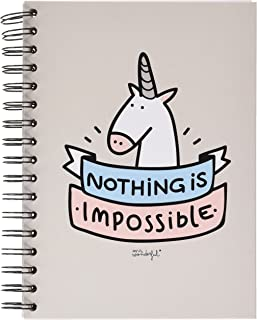 "Mr; Wonderful Woa02463 Libreta De Color Con Mensaje ""Nothing Is Impossible"""